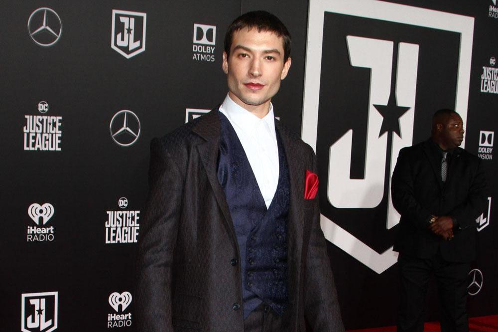 Ezra Miller at Justice League premiere