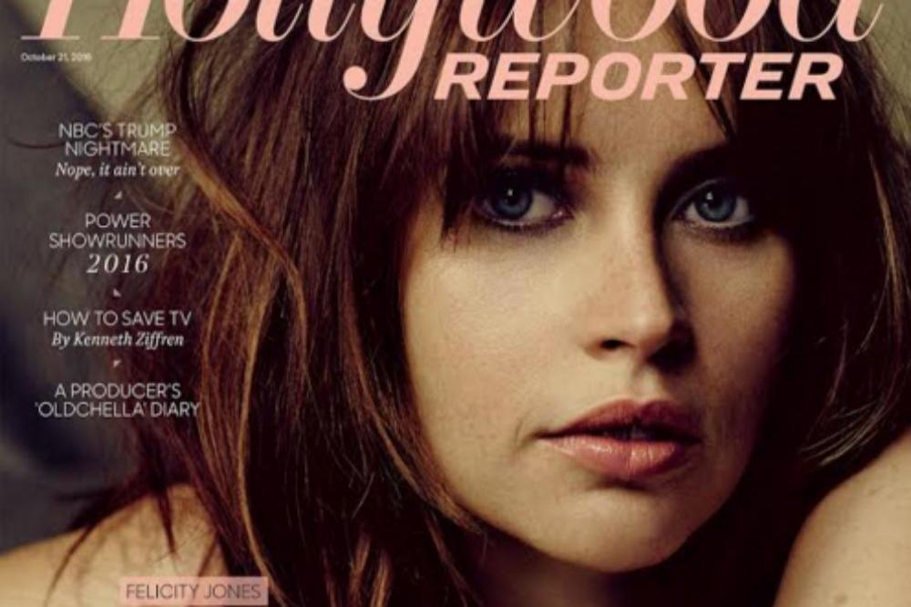 Felicity Jones on the cover of The Hollywood Reporter
