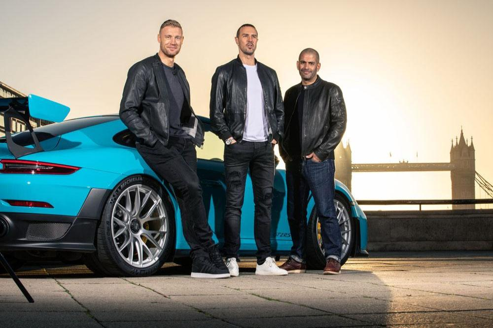 Flintoff, McGuinness rev up for Top Gear debut