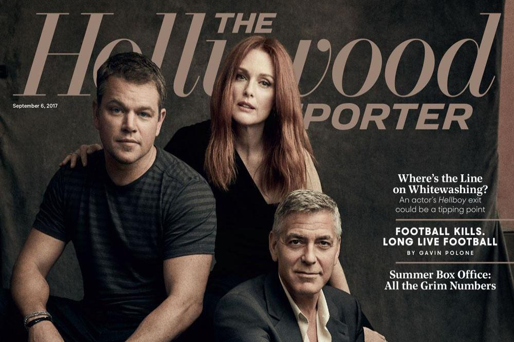 George Clooney in the new issue of The Hollywood Reporter