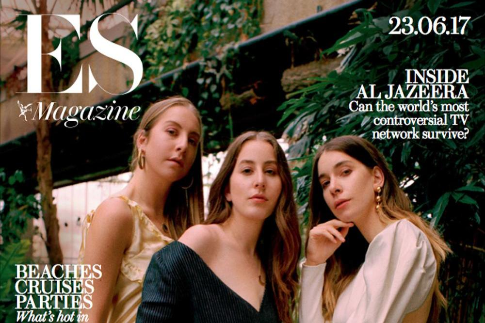 Haim on the cover of ES magazine