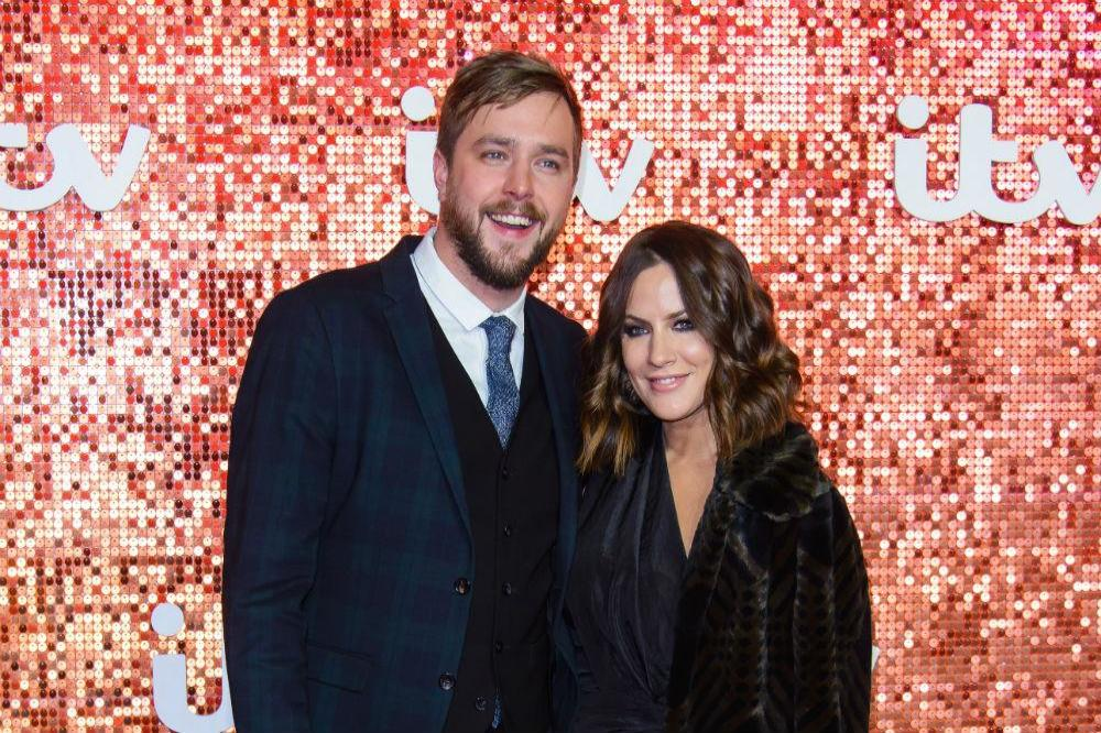 Iain Stirling with host, Caroline Flack