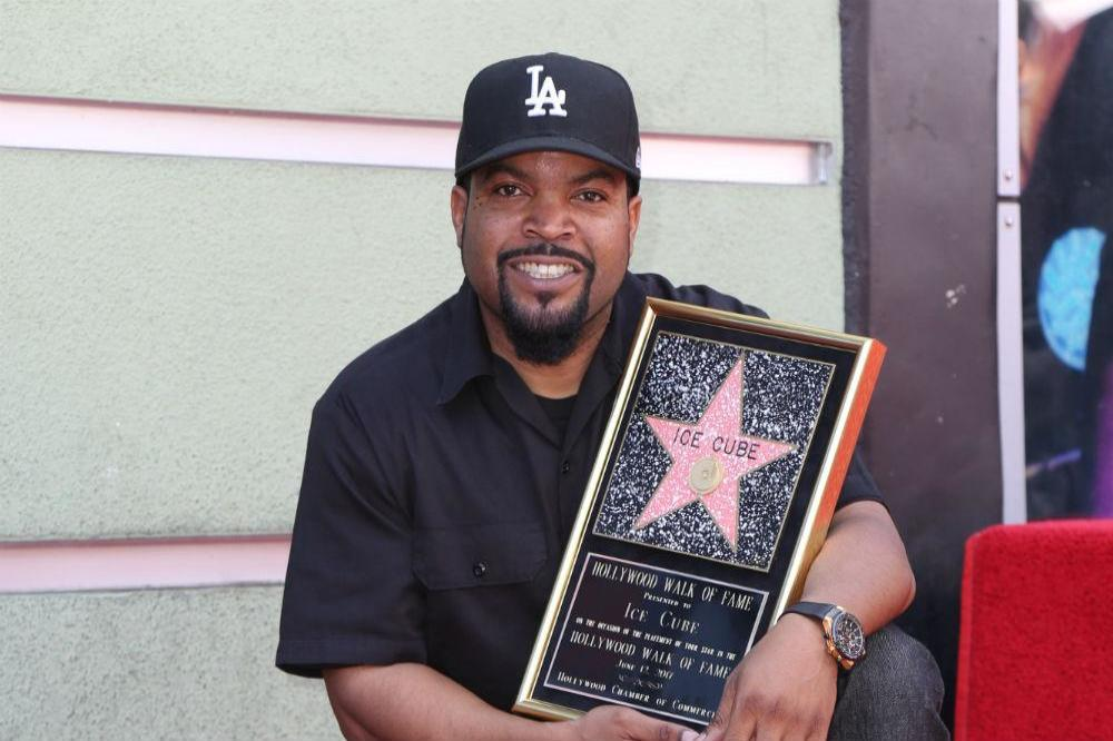 Ice Cube receiving his star on the Hollywood Walk of Fame