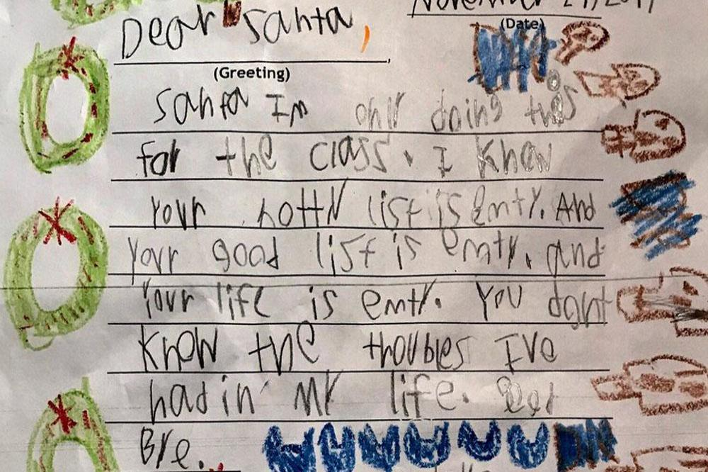 Skeptical 6-year-old destroys Santa in Christmas letter