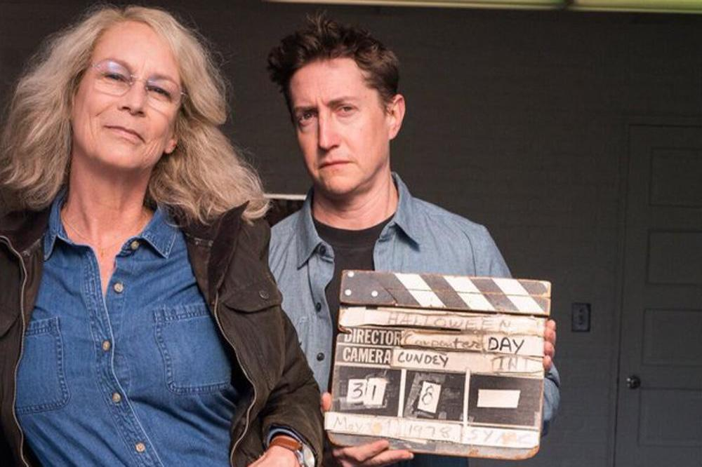 Jamie Lee Curtis and David Gordon Green (c) Twitter