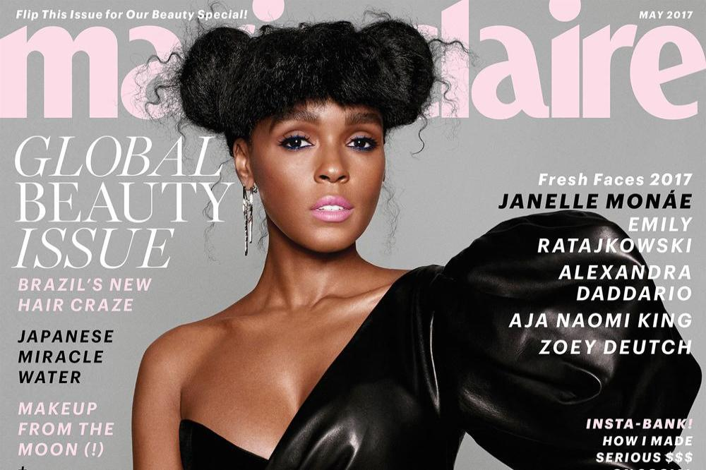 Janelle Monae on the cover of Marie Claire magazine