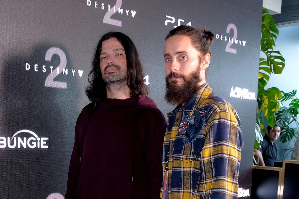 Jared Leto and Tomo Milicevic at the Destiny 2 launch