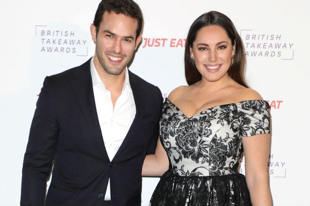 Jeremy Parisi and Kelly Brook at the British Takeaway Awards