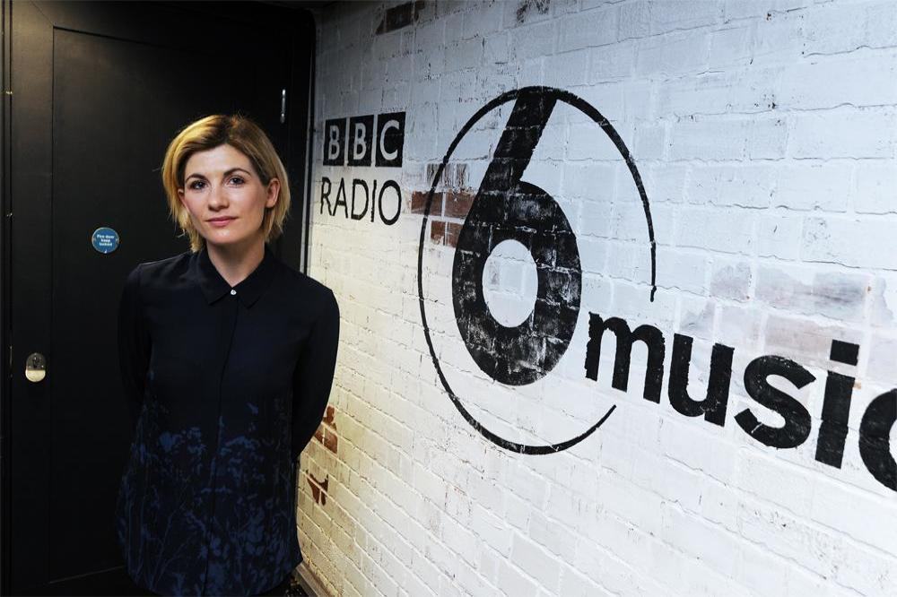 Jodie Whittaker at BBC Radio 6 studio