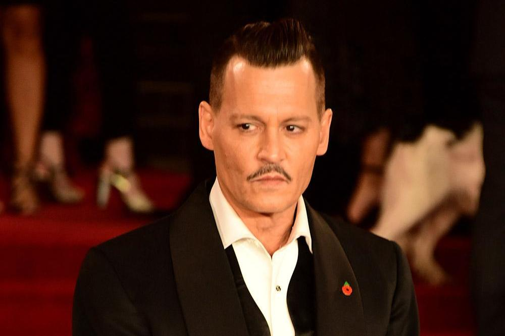 Johnny Depp at Murder on the Orient Express