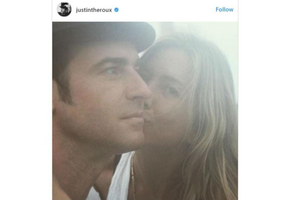 Justin Theroux shares romantic photo with Jennifer Aniston