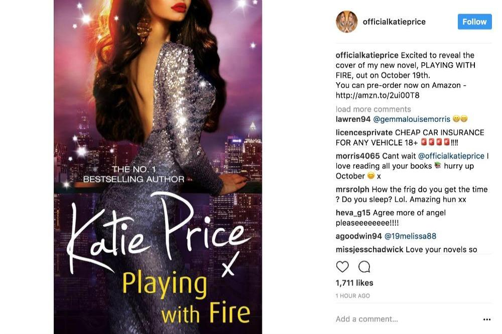 Katie Price's novel cover via Instagram (c)