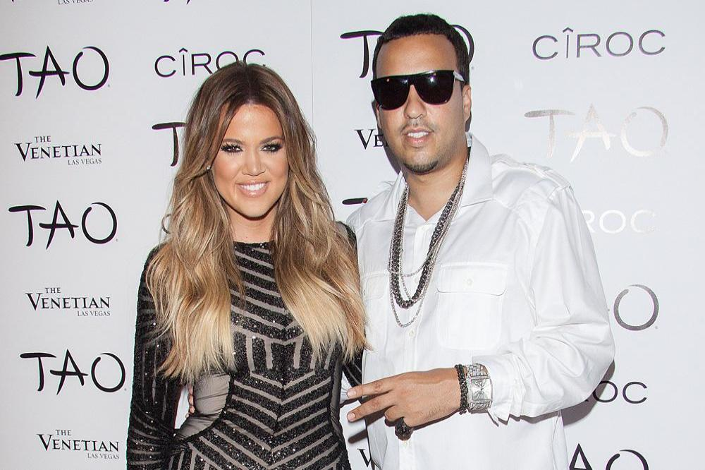 Khloe Kardashian and French Montana in 2014