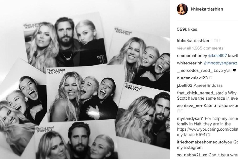 Kourtney Kardashian, Kylie Jenner, Scott Disick and Kourtney Kardashian (c) Instagram