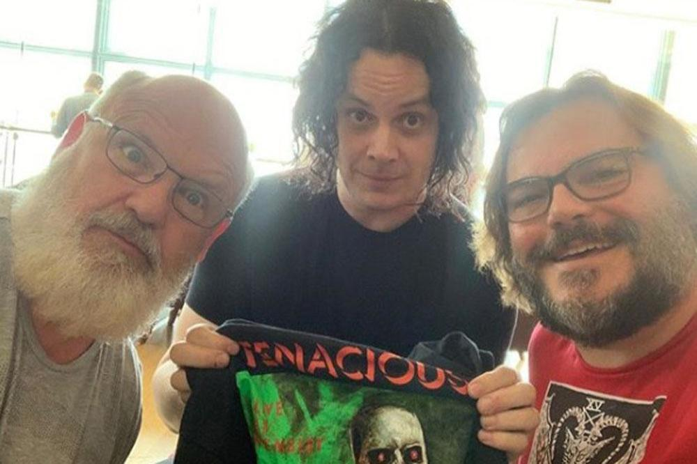 Kyle Glass, Jack White and Jack Black (c) Instagram