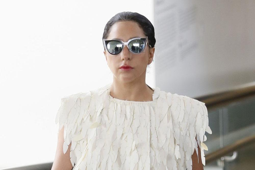 Lady Gaga's Simple Wedding Dress