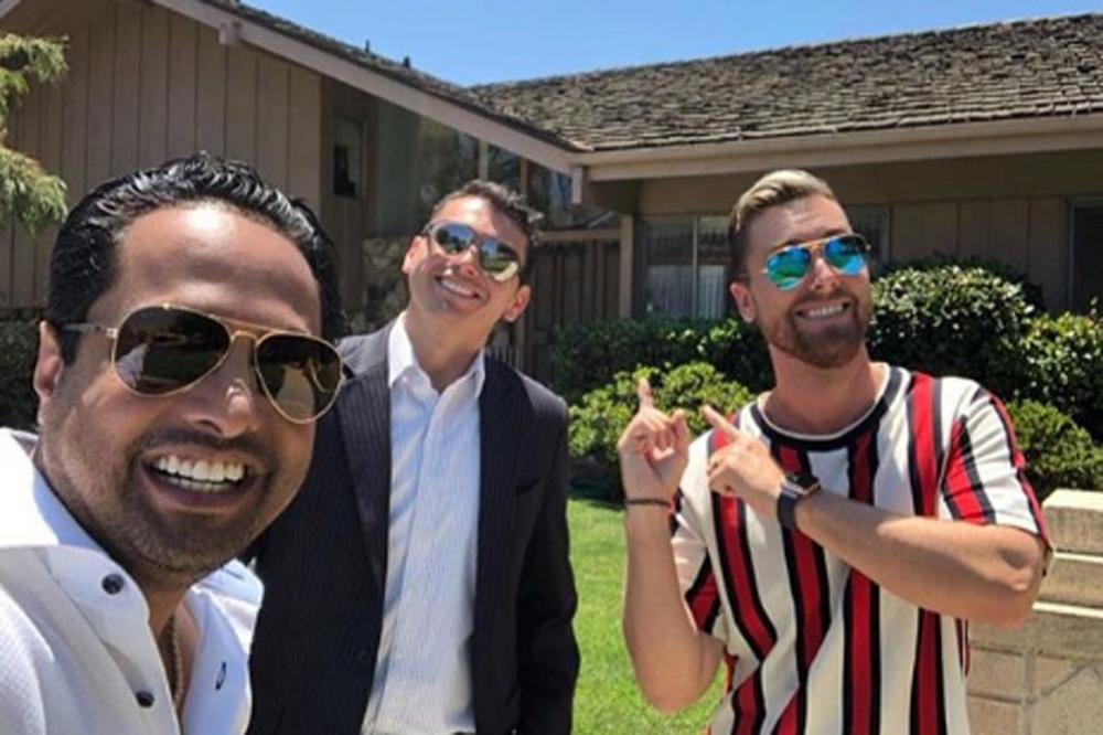 Lance Bass at The Brady Bunch House (c)