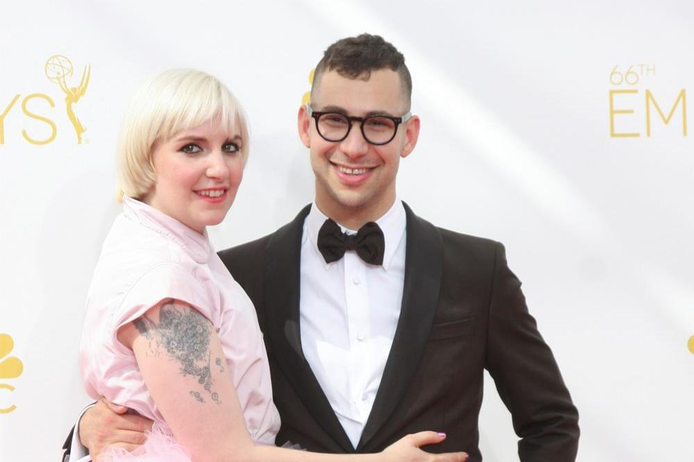 Lena Dunham and Jack Antonoff in 2014