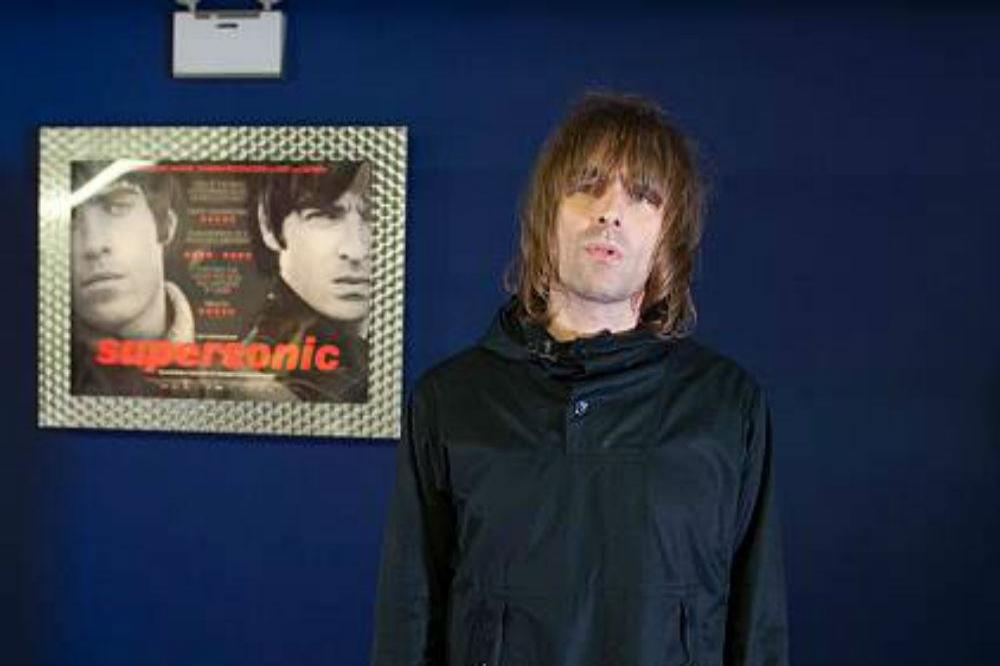 Liam Gallagher at the Supersonic premiere
