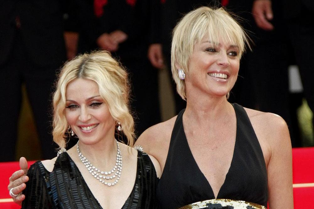 Madonna with Sharon Stone