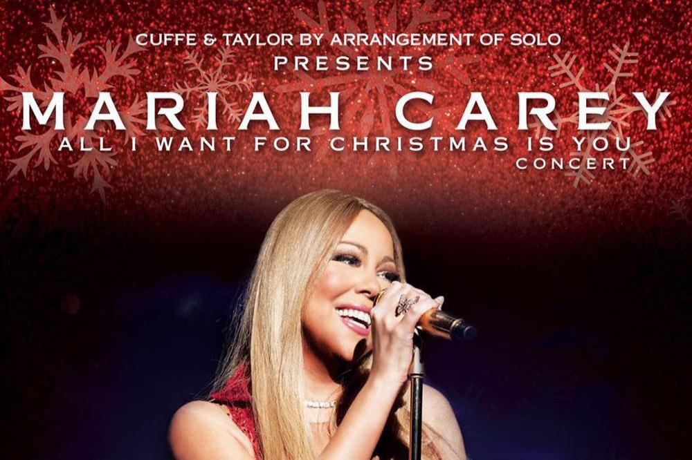Mariah Carey's All I Want For Christmas tour poster