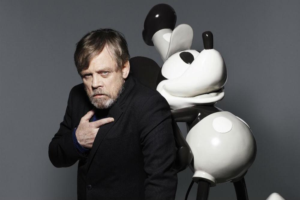 Mark Hamill with Mickey Mouse