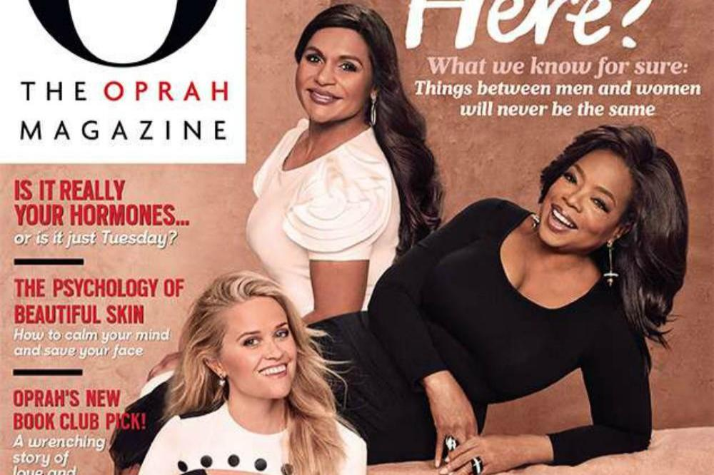 Mindy Kaling, Oprah Winfrey and Reese Witherspoon for O Magazine