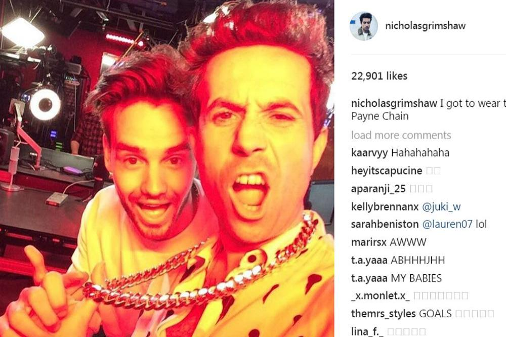Nick Grimshaw and Liam Payne (c) Instagram