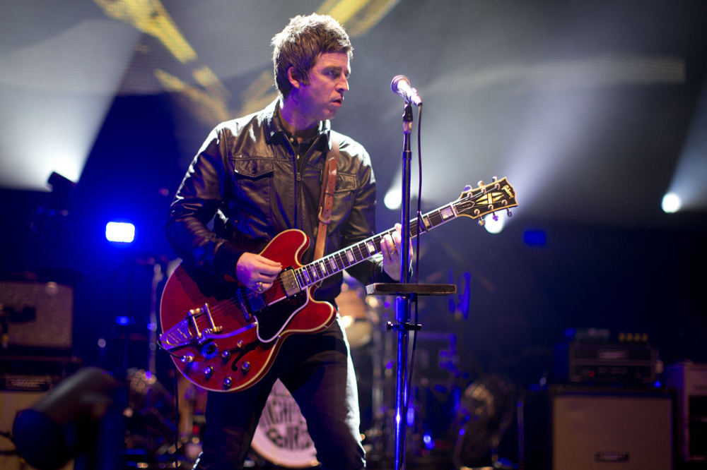 Noel Gallagher performing with the High Flying Birds