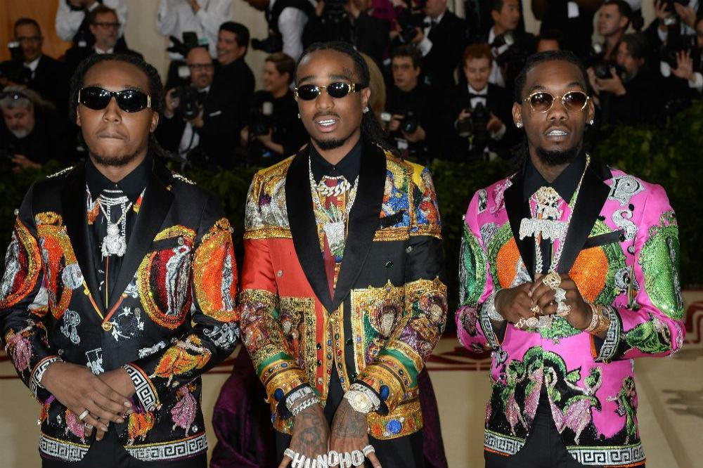 Offset (r) at the Met Gala with his Migos bandmates