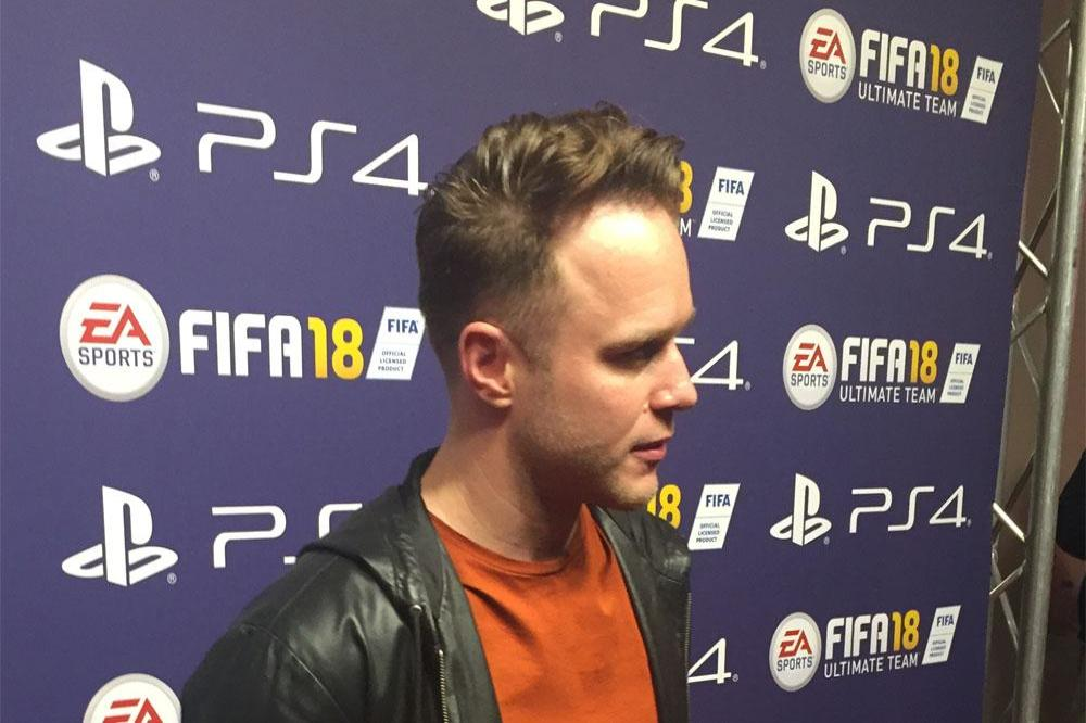 Olly Murs at FIFA 18 launch