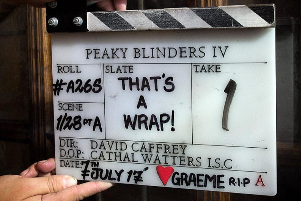 Peaky Blinder's series four wraps (c) Twitter