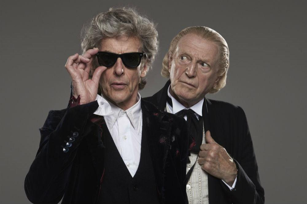 Peter Capaldi and David Bradley