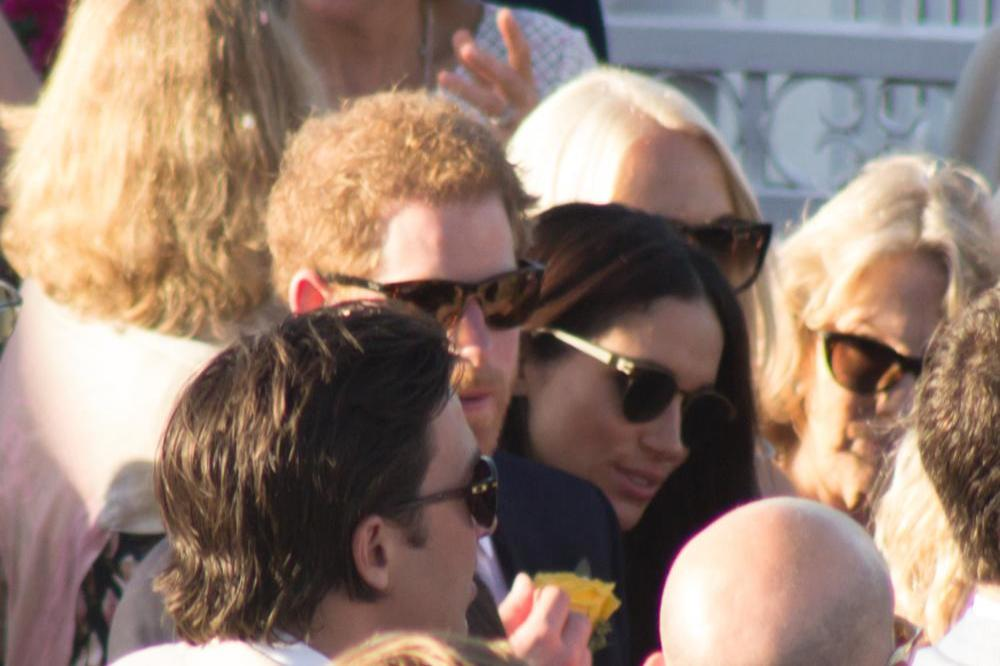 Prince Harry And Meghan Markle Share First Public Kiss At Polo