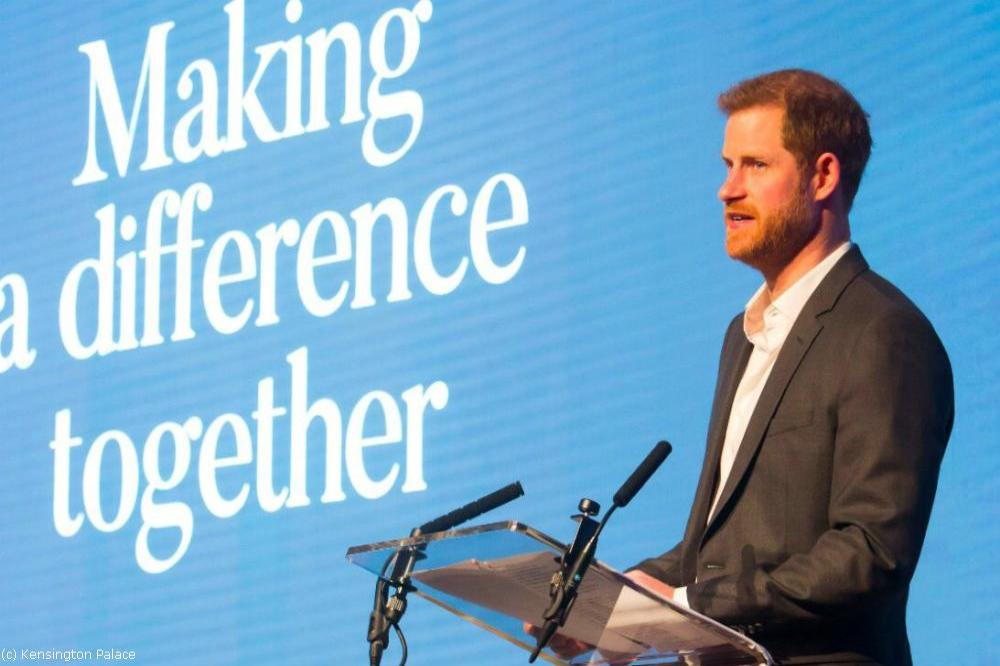 Prince Harry at The Royal Foundation (c) Kensington Palace