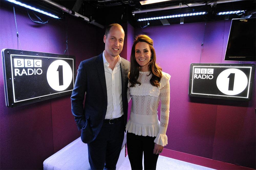 Prince William and Duchess Catherine at Radio 1