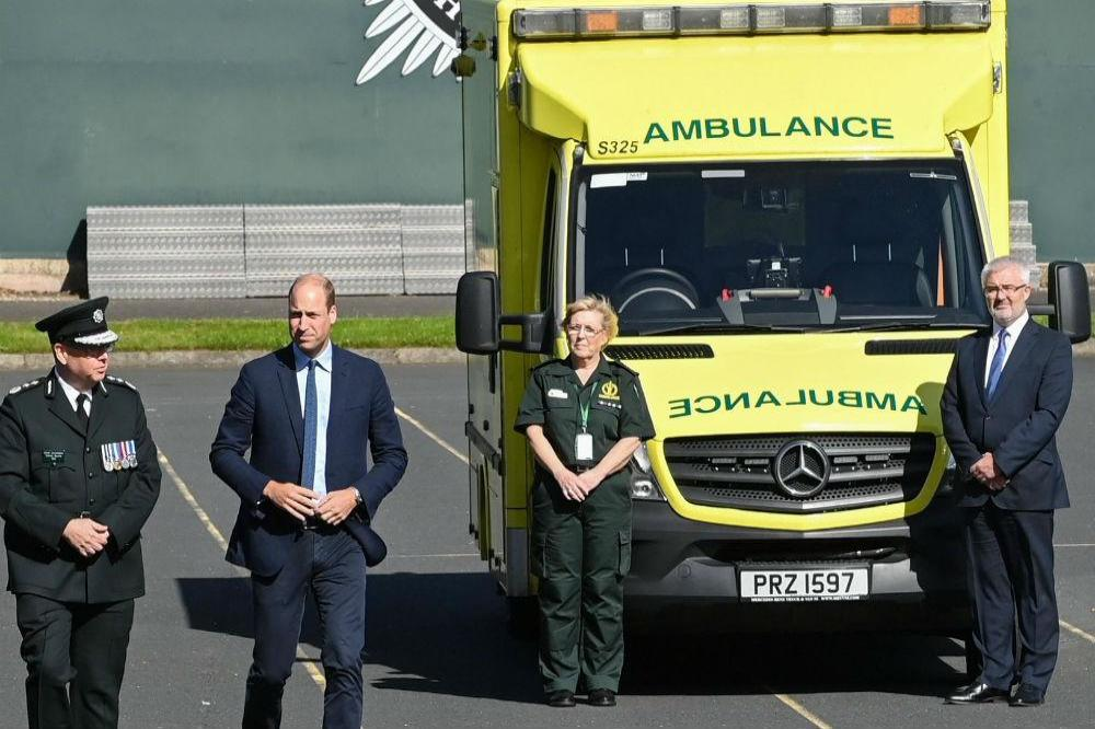 Prince William meets emergency services staff (c) Kensington Royal