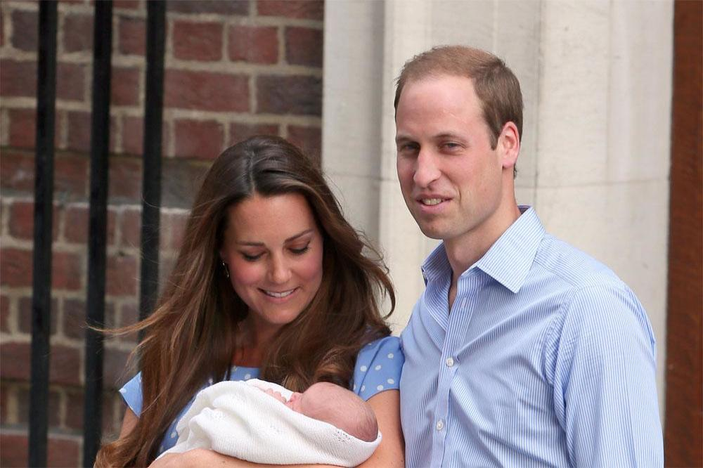 Princes William and George with Duchess Catherine