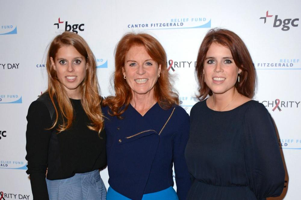 Sarah Ferguson with her daughters, Beatrice and Eugenie