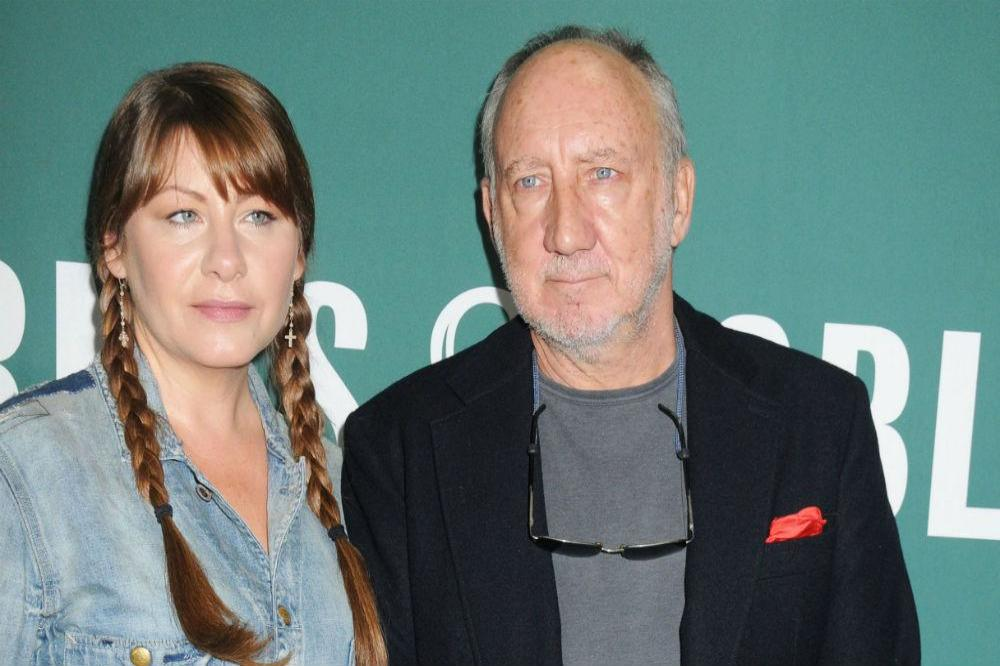 Pete Townshend with calm, Wife Rachel Fuller
