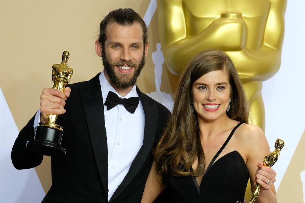 Rachel Shenton and Chris Overton at the Oscars