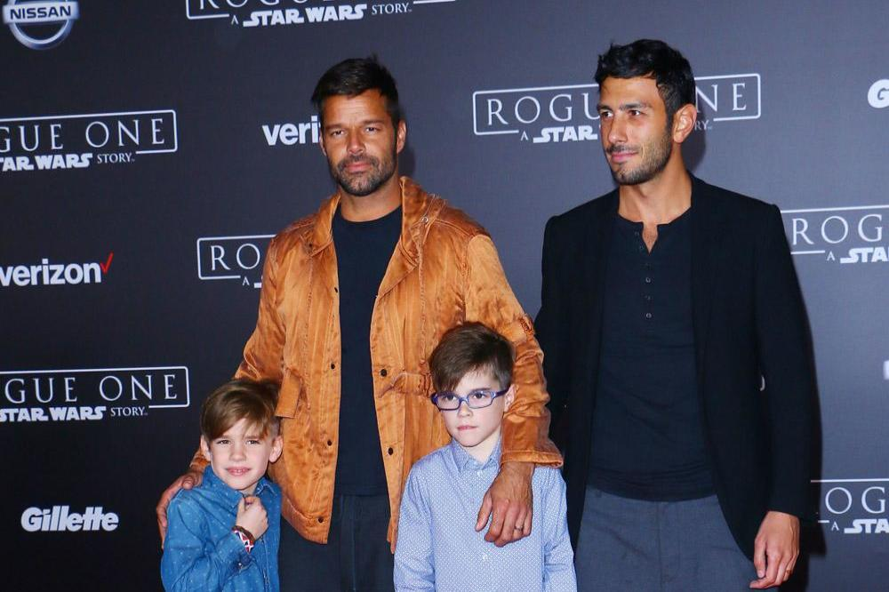 Ricky Martin, Jwan Yosef, and Ricky's children