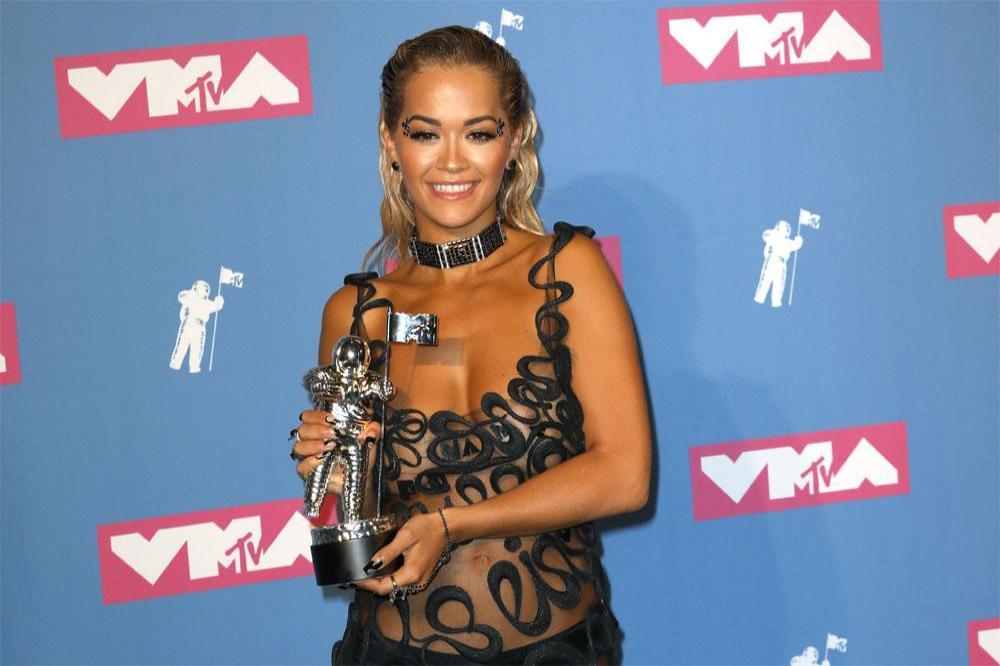 Rita Ora dares to bare in sheer MTV VMAs gown