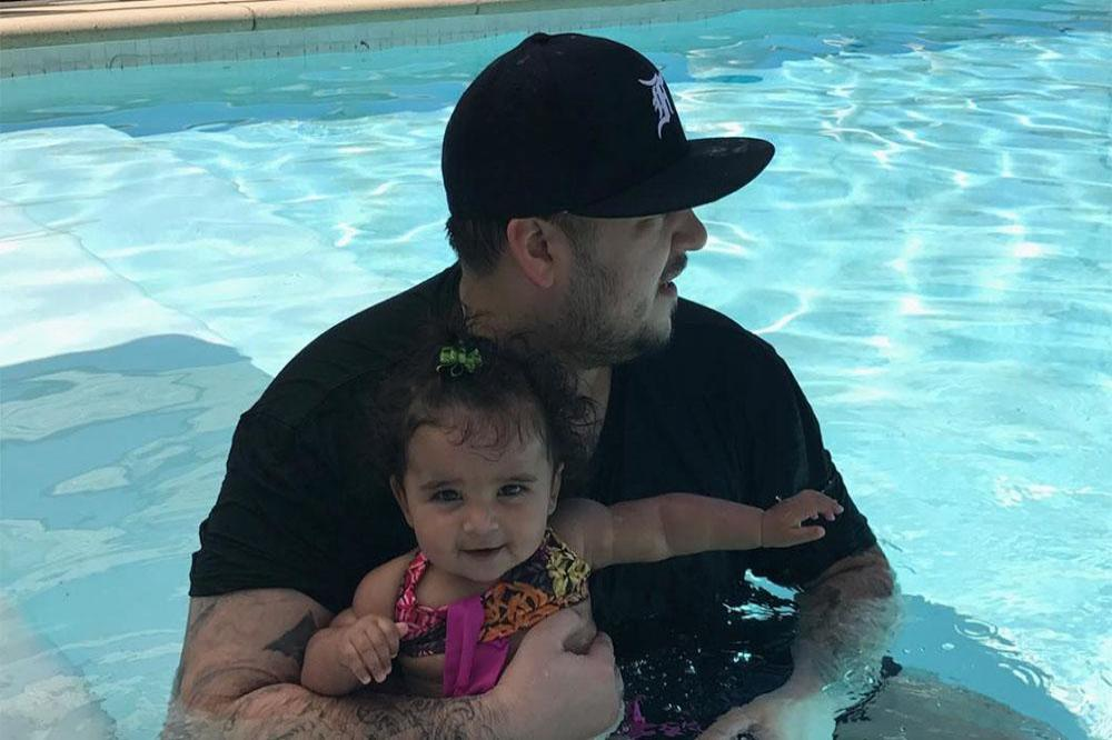 Rob Kardashian and daughter Dream (c) Instagram