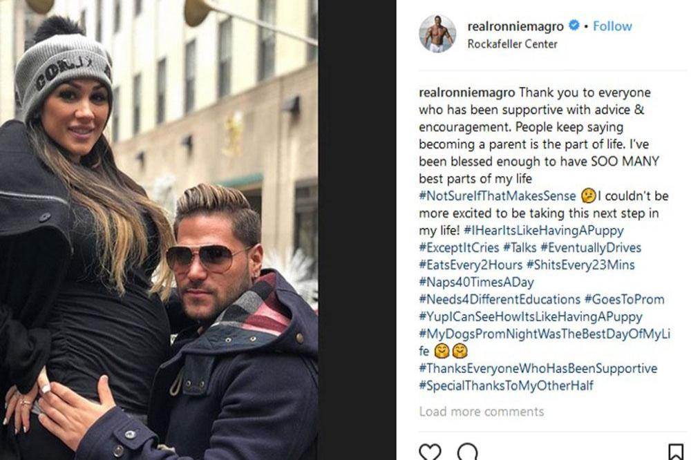 Ronnie Ortiz-Magro is expecting his first child