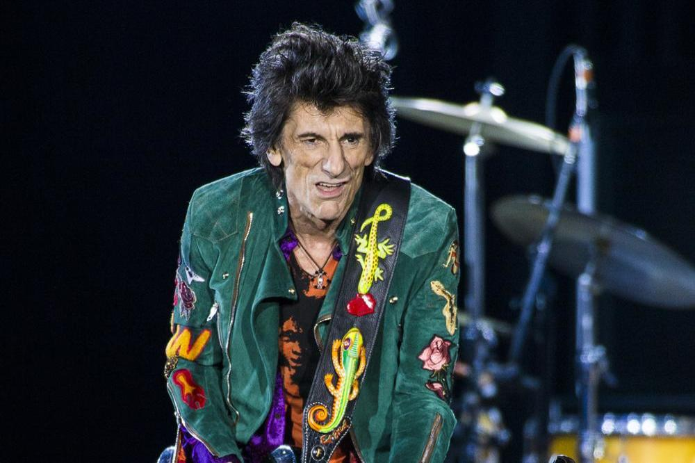 Ronnie Wood on stage in Hamburg