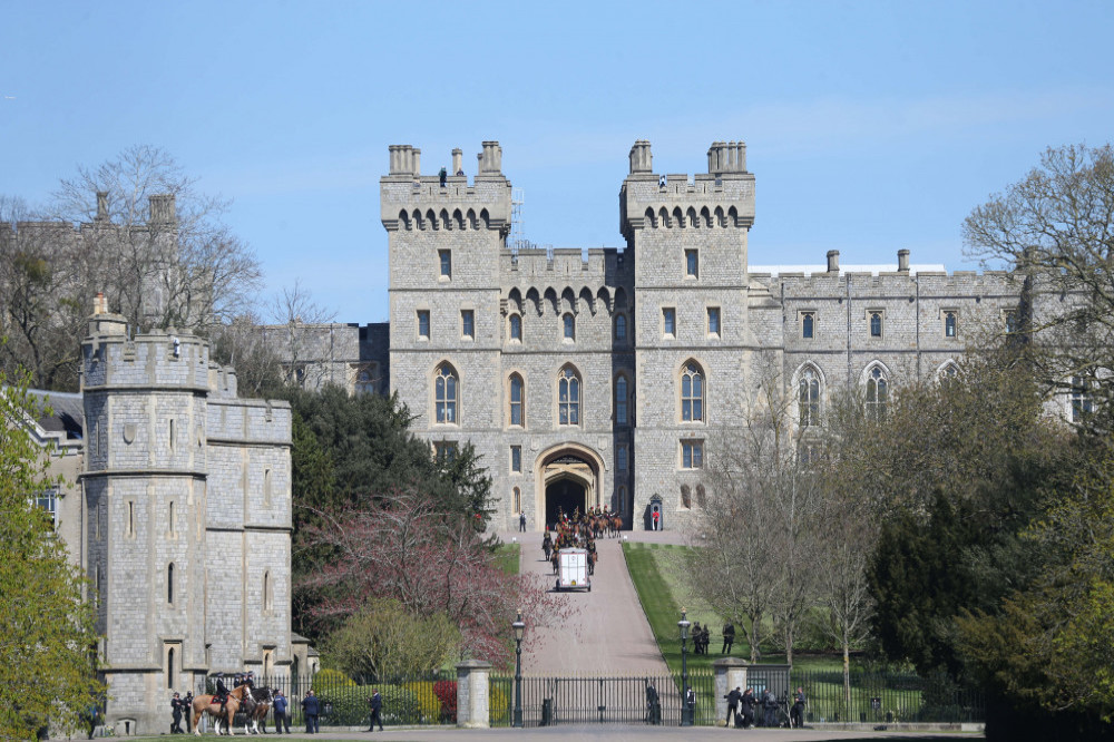 Prince Philip's coffin moved to Windsor Castle's inner ...