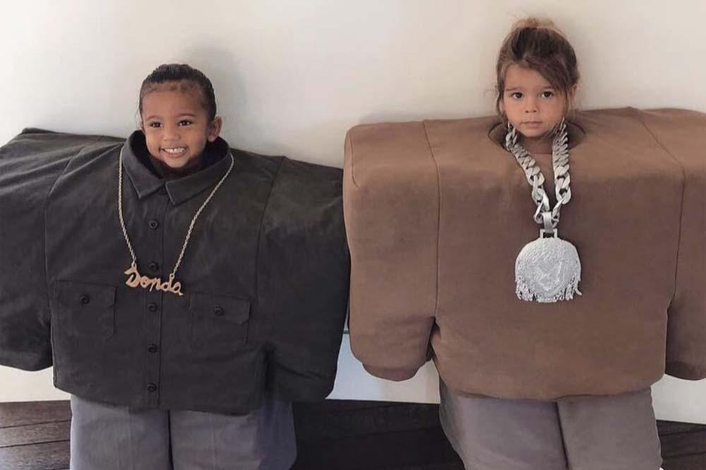 Saint West and Reign Disick on Halloween (sic) Instagram