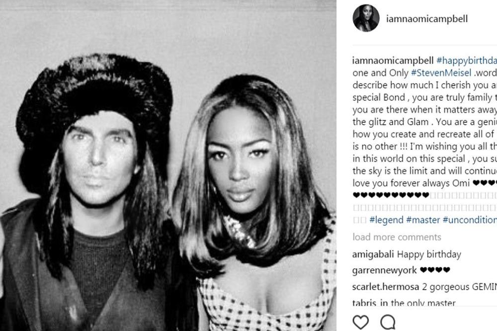 Steven Meisel and Naomi Campbell (C) Instagram