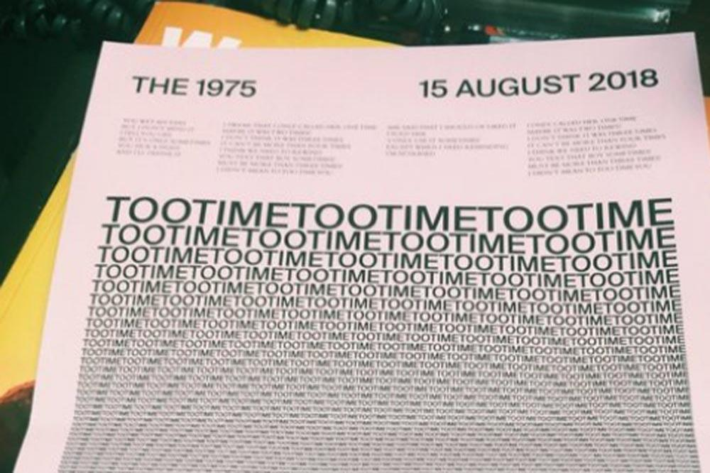 The 1975's single note